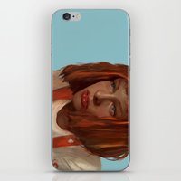fifth element iPhone & iPod Skins featuring leeloo - the fifth element by salem jones