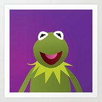 muppets Art Prints featuring Kermit - Muppets Collection by Bryan Vogel