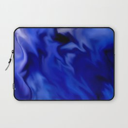 Dark Blue and silver waves Laptop Sleeve