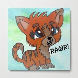 Tiger Kitten Metal Print
