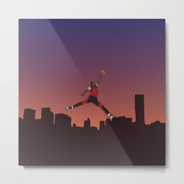 Air Jordan Jumpman Dunk Sunset Metal Print