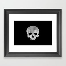 skull Moon Framed Art Print