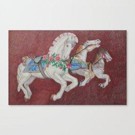 Carousel Race Canvas Print