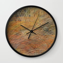 Circles of Rectangles and Waves Wall Clock