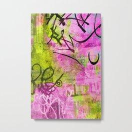 Abstract graffiti texture Metal Print