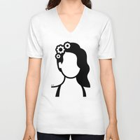lana V-neck T-shirts featuring Lana by triangle.cross