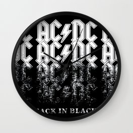 AC/DC - Back in Black Wall Clock