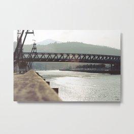 Euskalduna Bridge Metal Print