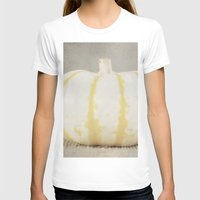 striped T-shirts featuring Striped  Pumpkin by Pure Nature Photos