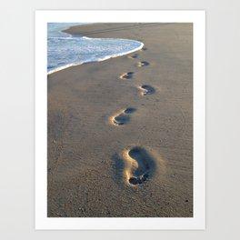 Wrightsville Beach Footprints Art Print