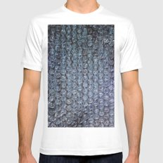 Drop Proof Bubbles White SMALL Mens Fitted Tee