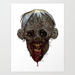 Heads of the Living Dead  Zombies: Ratboy Zombie Art Print