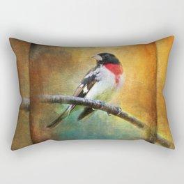 Rose-breasted Grosbeak ~ Ginkelmier Inspired Rectangular Pillow