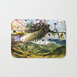 Fleeing Creativity (surreal) Bath Mat