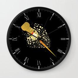 Flying Rocket Powered Cork Wall Clock