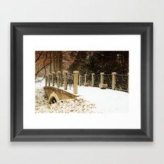 A winter crossing Framed Art Print
