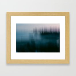 Forest Wilderness by the Sea Abstract Framed Art Print