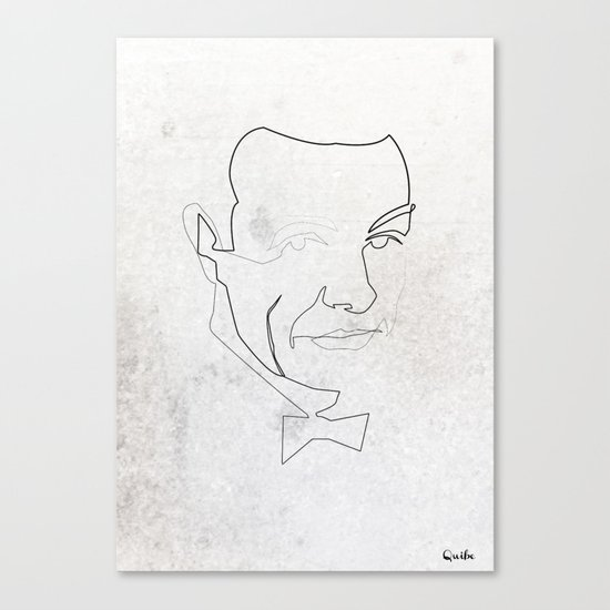 One line 007 (Sean Connery) Canvas Print