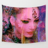 india Wall Tapestries featuring Princess of India by Ganech joe