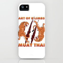 Martial Arts Muay Thai iPhone Case