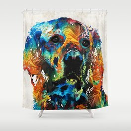 Colorful Dog Art - Heart And Soul - By Sharon Cummings Shower Curtain