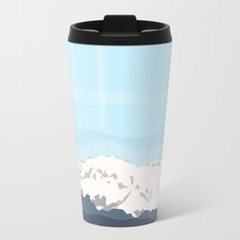 A first look to the cold mountains Travel Mug
