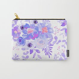 Lilac lavender violet pink watercolor elegant floral Carry-All Pouch