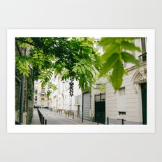La Petite Rue Art Print