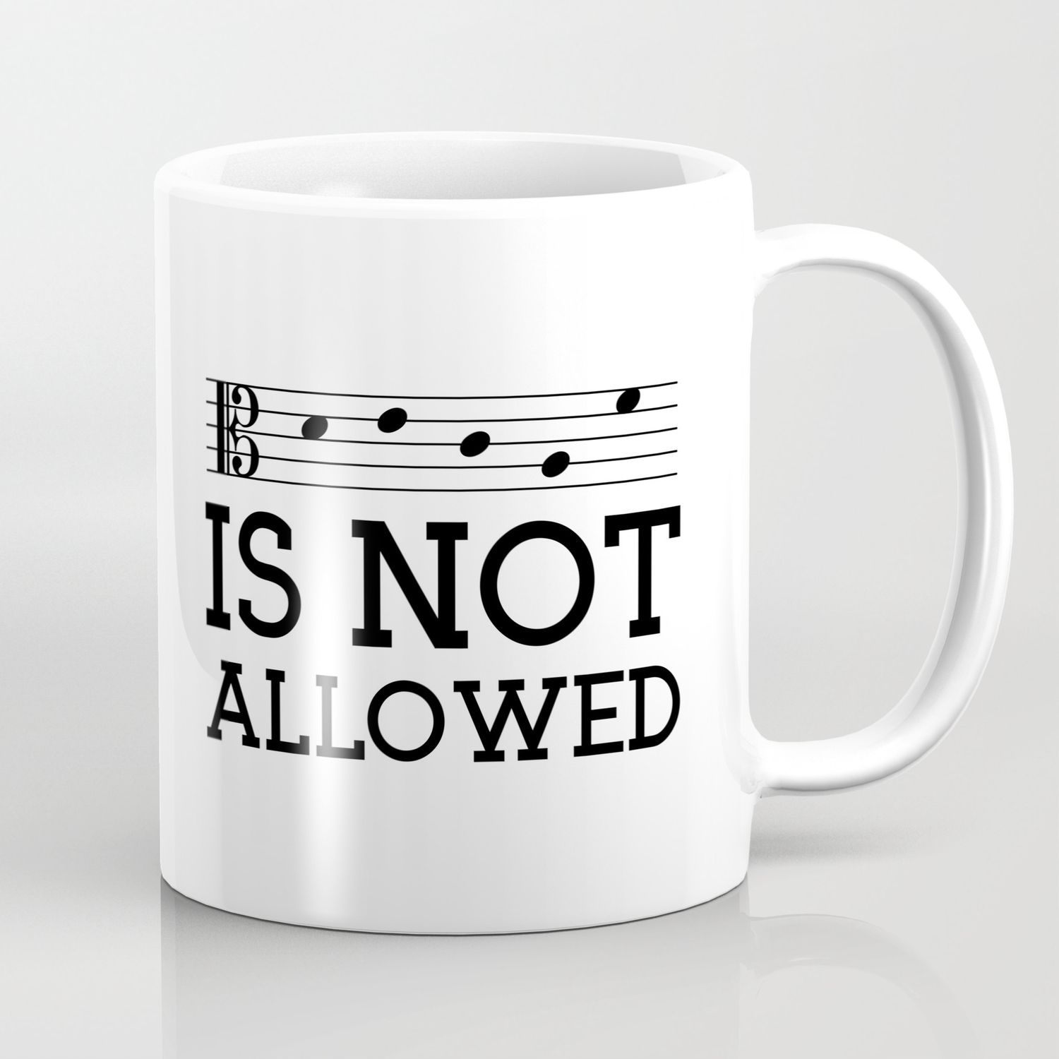 Decaf Is Not Allowed Alto Version Coffee Mug