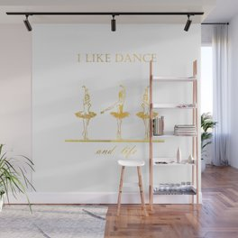 gold ballerinas . art Wall Mural