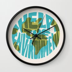 Help The Environment Wall Clock