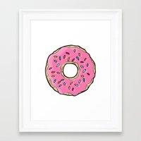 doughnut Framed Art Prints featuring Doughnut by Sara Eshak