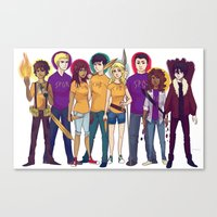 heroes Canvas Prints featuring Heroes by cookiekhaleesi