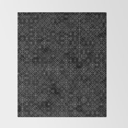 Black and White Overlap 1 Throw Blanket