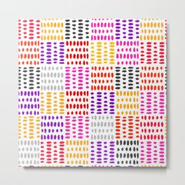 bright pattern of pink, yelow and purpe no 4 Metal Print