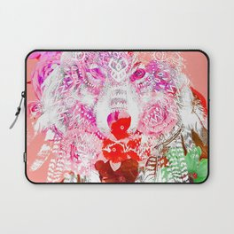 Wolf tattoo color Laptop Sleeve