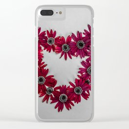 Flower Chain Clear iPhone Case