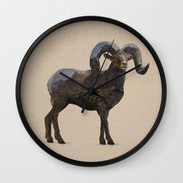 The Rocky Mountain Bighorn Sheep Wall Clock