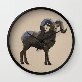 The Rocky Mountain Bighorn Sheep Wall Clock
