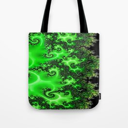 Green Lace Tote Bag