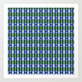 Links of Blue and Green Art Print