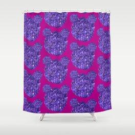 Lilac bears Shower Curtain