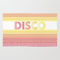 disco Area & Throw Rugs featuring Disco by Gaba Blua