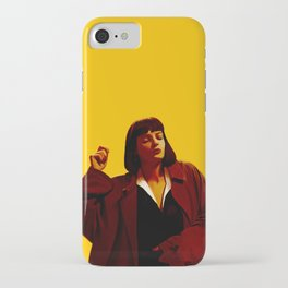 Mia Wallace - Yellow iPhone Case