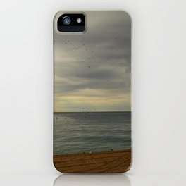 Barcelona beach iPhone Case