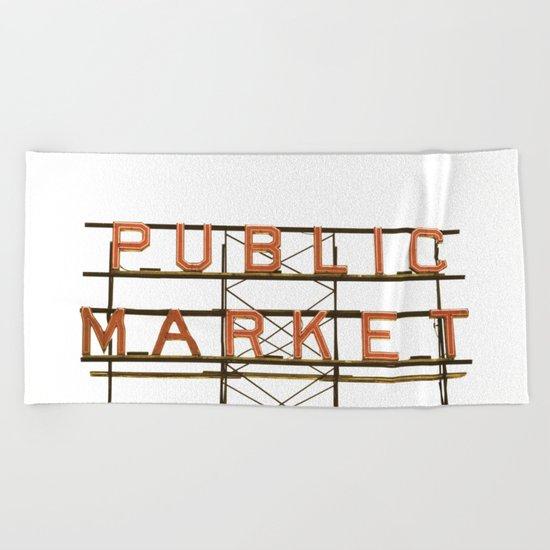 Pike Place Public Farmers Market - Sunrise Beach Towel
