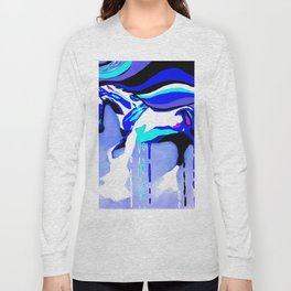 Horse Blue Long Sleeve T-shirt