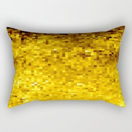 Goldenrod Yellow Pixels Rectangular Pillow