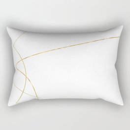 Kintsugi 2 #art #decor #buyart #japanese #gold #white #kirovair #design Rectangular Pillow