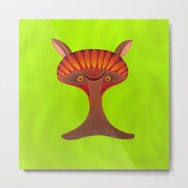 Friendly but Whimsical Mushroom Creature Metal Print